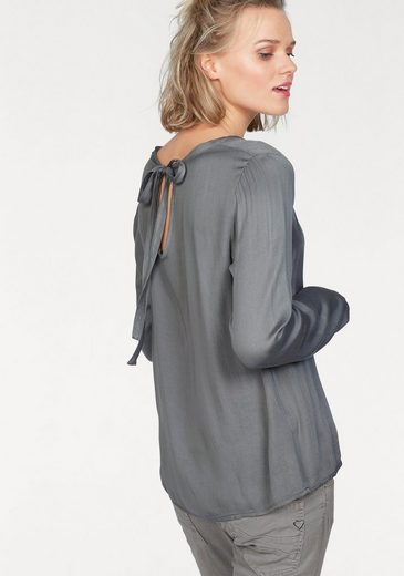 Please Jeans Slip Blouse With Loop-back