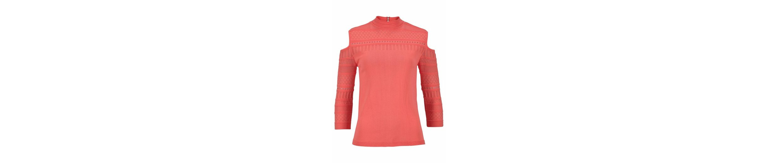 mit Melrose Ajourpullover Cut Melrose Ajourpullover Schulter Outs mit Schulter BXxwq7AAP