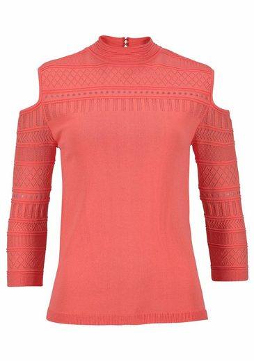 Melrose Ajourpullover, mit Schulter Cut Outs