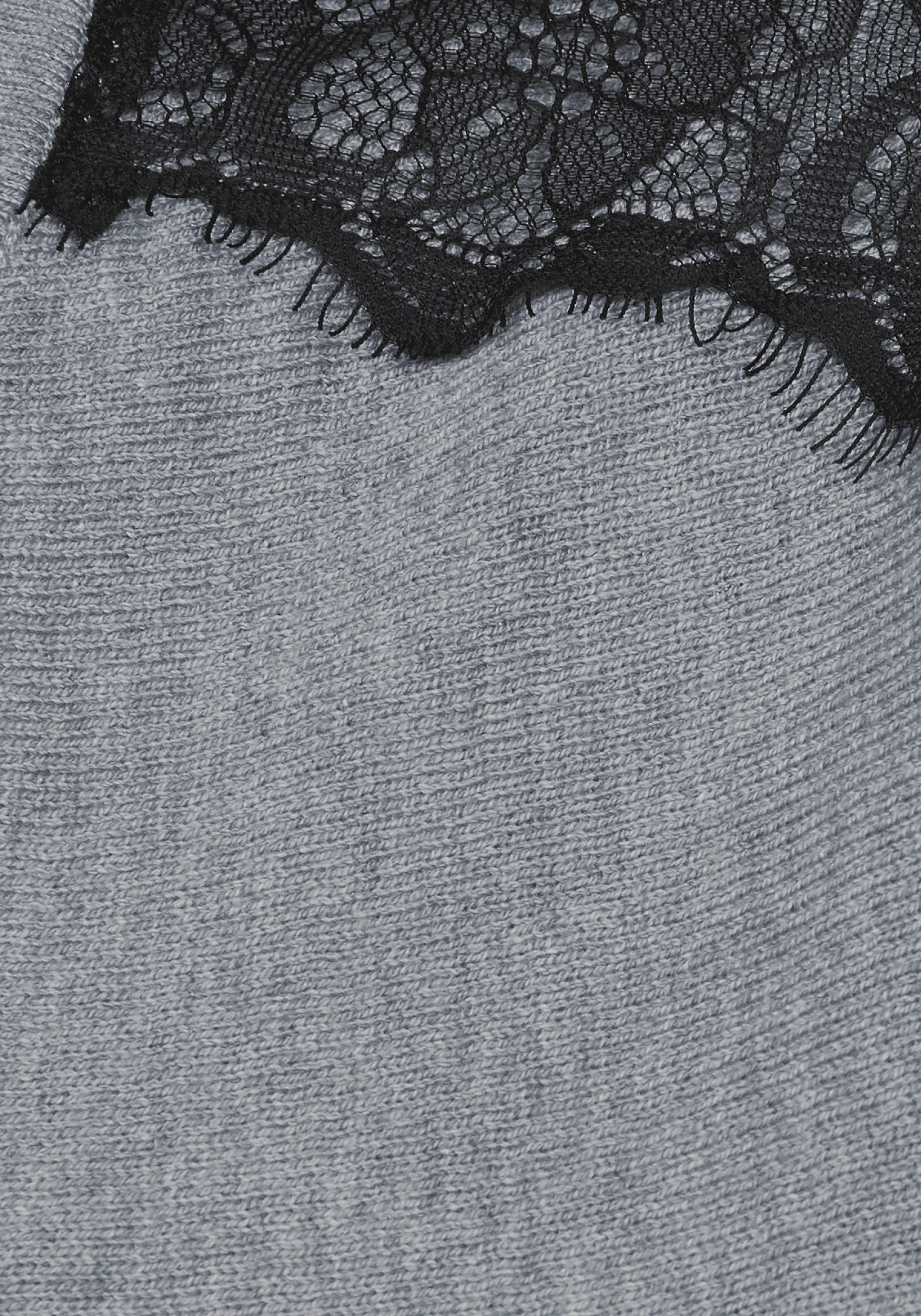 Mit Spitzenbesatz ausschnitt V Melrose pullover vxtYPq
