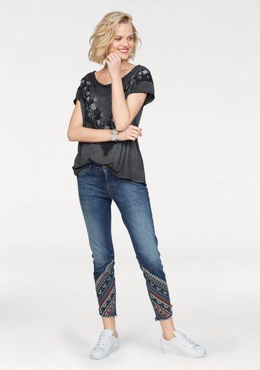 Zhrill Skinny-fit-Jeans CINDY, mit extravaganter Stickerei