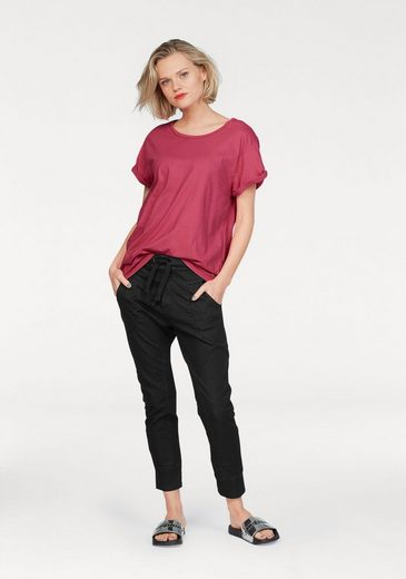 Please Jeans T-shirt With Cuffed Sleeves