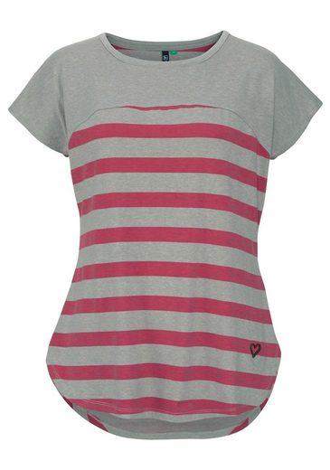 alife and kickin T-Shirt CLARA B, mit gemustertem Unterteil