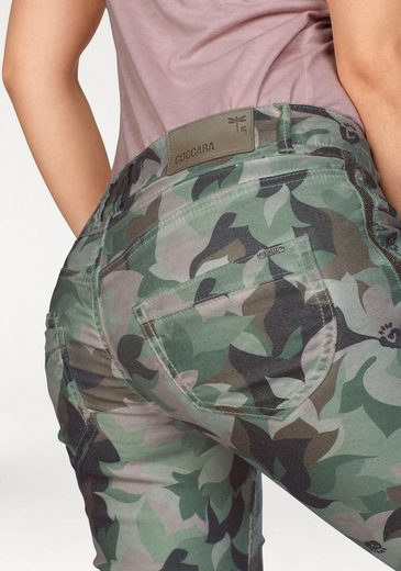 Coccara Skinny-fit-Jeans BELLA, in Trendfarbe Camouflage