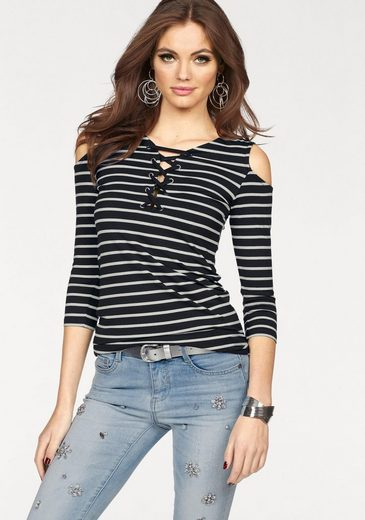 Melrose 3/4-Arm-Shirt, mit Schulter Cut Outs