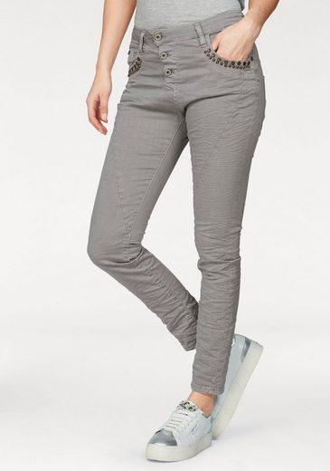 Please Jeans Boyfriend-Jeans P78A, mit Nieten