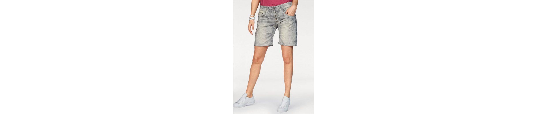 Please Jeans Jeansshorts P88A, im dezenten Tarnmuster