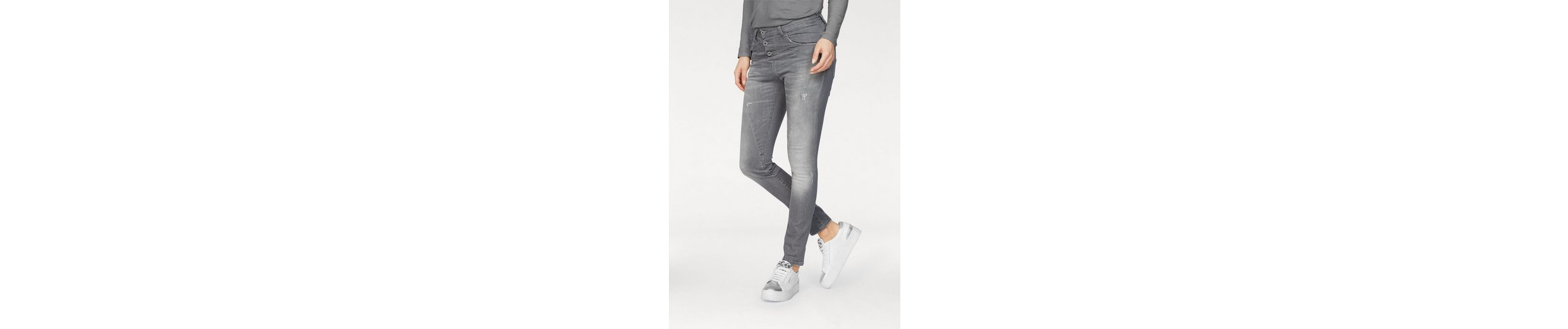 Please Jeans Boyfriend-Jeans P78A, mit Metallabel in Herzform