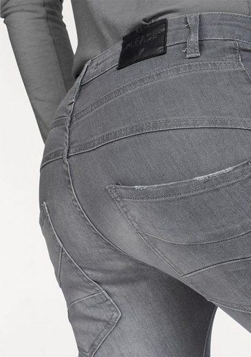 Please Jeans Boyfriend-Jeans P78A, mit Metallabel in Herzform
