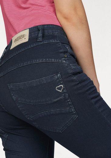 Please Jeans Boyfriend-Hose P46M, mit schräger Knopfleiste