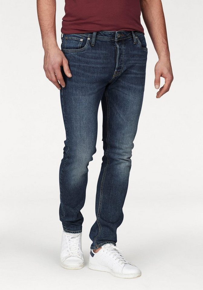 utterly stylish best shoes reasonably priced Jack & Jones Slim-fit-Jeans »TIM«, Verwaschene Jeans