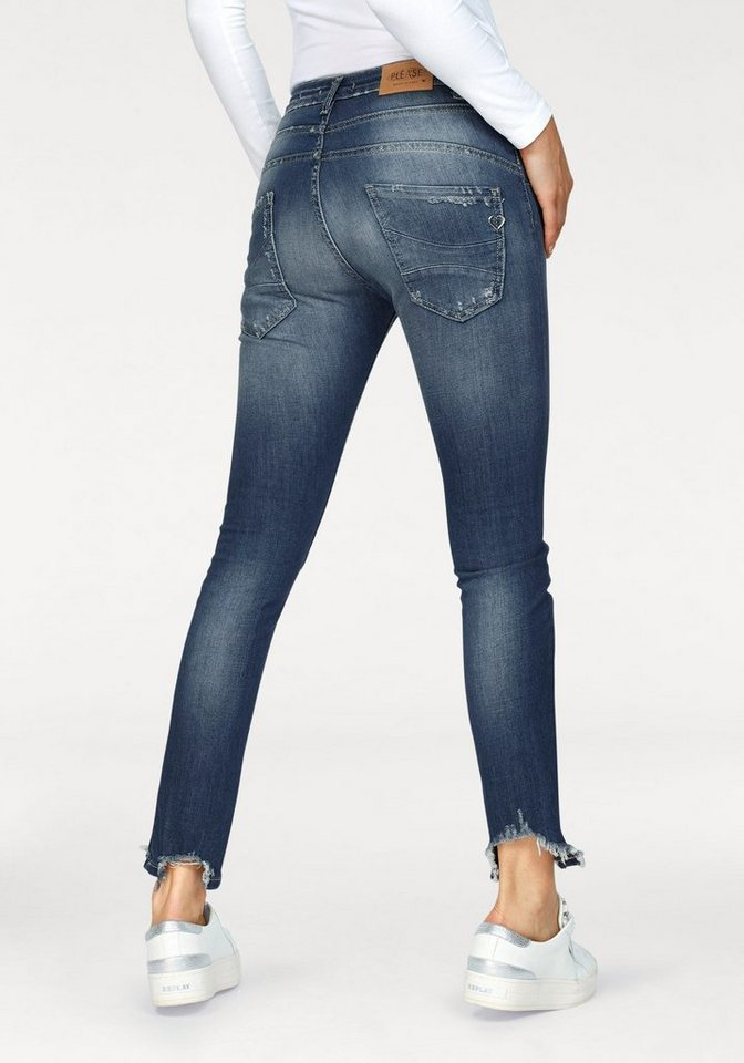 25890f537477 Please Jeans Boyfriend-Jeans »P78A« mit Destroyed-Effekten online ...