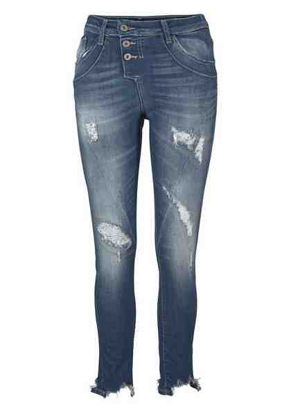 Please Jeans Boyfriend-Jeans »P78A«, mit Destroyed-Effekten