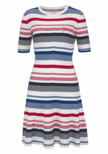 Tommy Jeans Lace Dress In Rip Optic