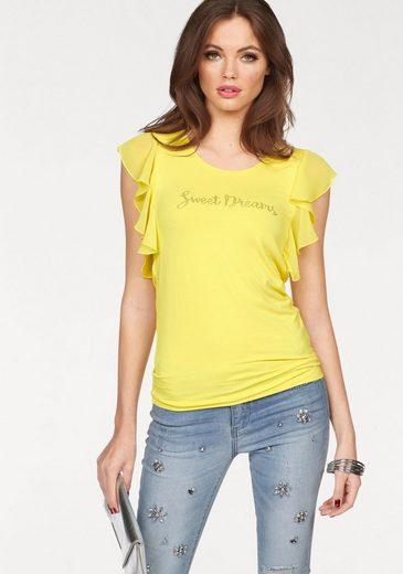 Melrose Rundhalsshirt, mit Strass Schriftzug