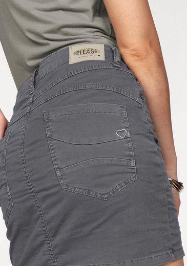 Please Jeans Jeansrock, mit prägnanter Knopfleiste