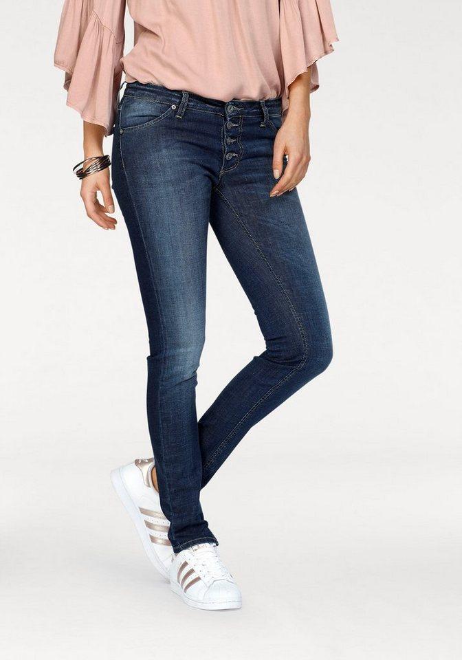 please jeans skinny fit jeans p90c mit auff lliger knopfleiste online kaufen otto. Black Bedroom Furniture Sets. Home Design Ideas