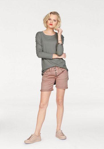 Please Jeans Shorts P88A, mit auffälliger Knopfleiste