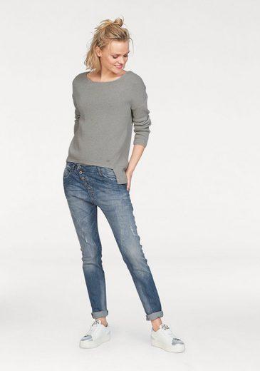 Please Jeans Strickpullover, mit vorverlegter Seitennaht