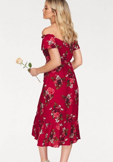 Y.A.S Off-Shoulder-Kleid ROMA, mit Blumen Print