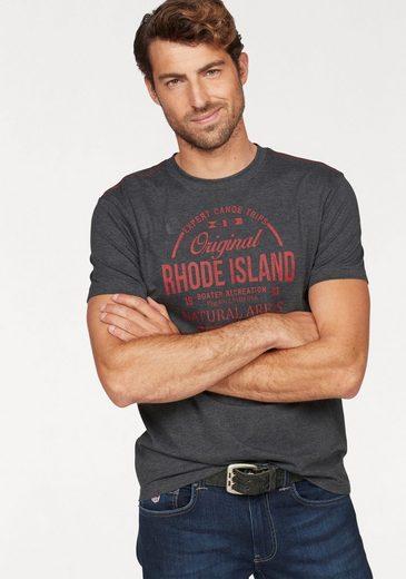 Rhode Island T-Shirt mit Brustprint