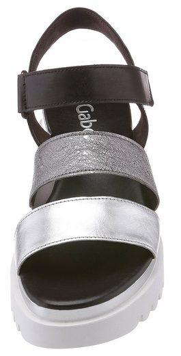Sandalette Sportlicher Mit Gabor Gabor Sandalette Sohle vO6Hqq