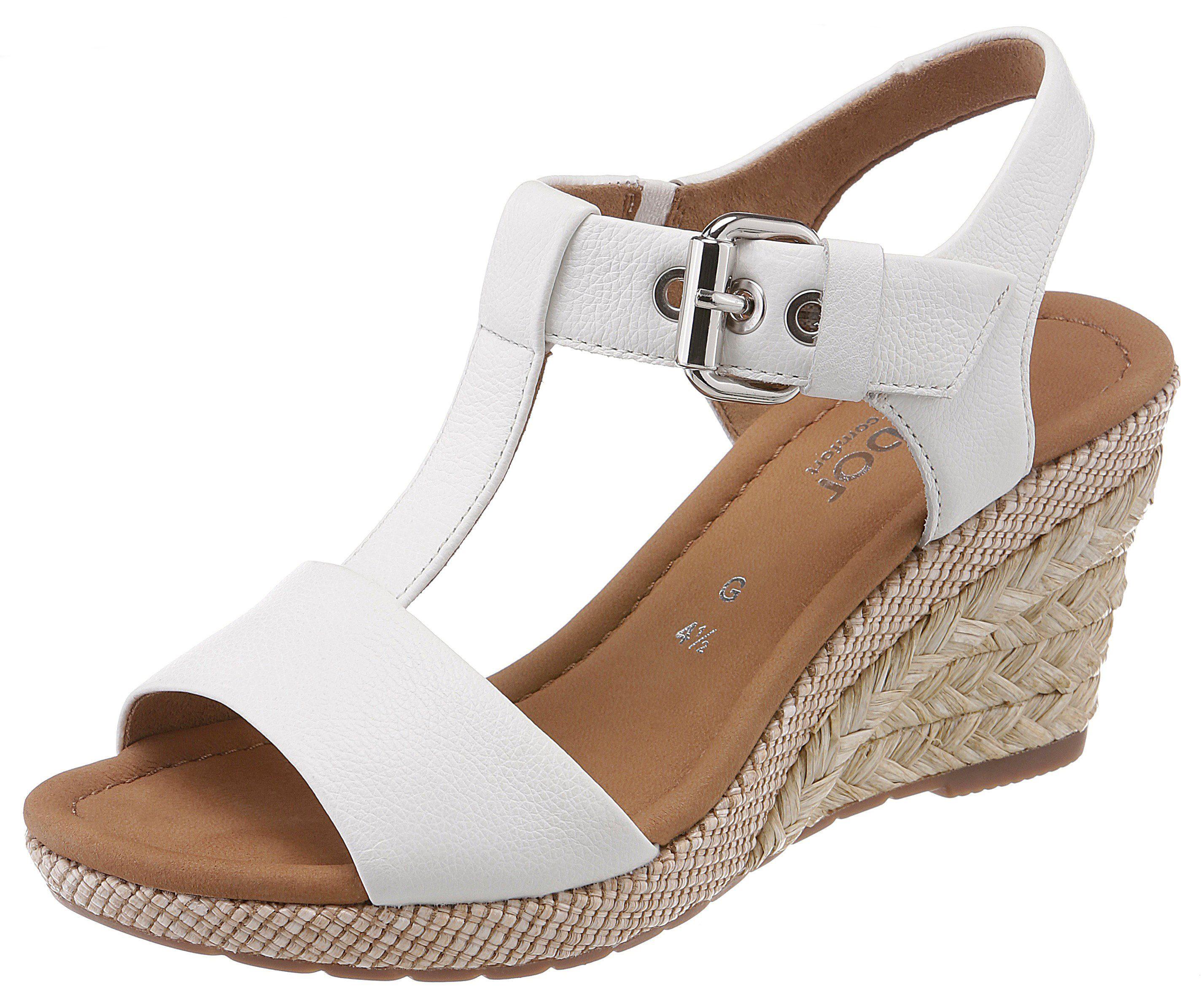 Gabor Sandalette mit Bastbezug, Sandalette in Schuhweite G (=weit) online kaufen | OTTO