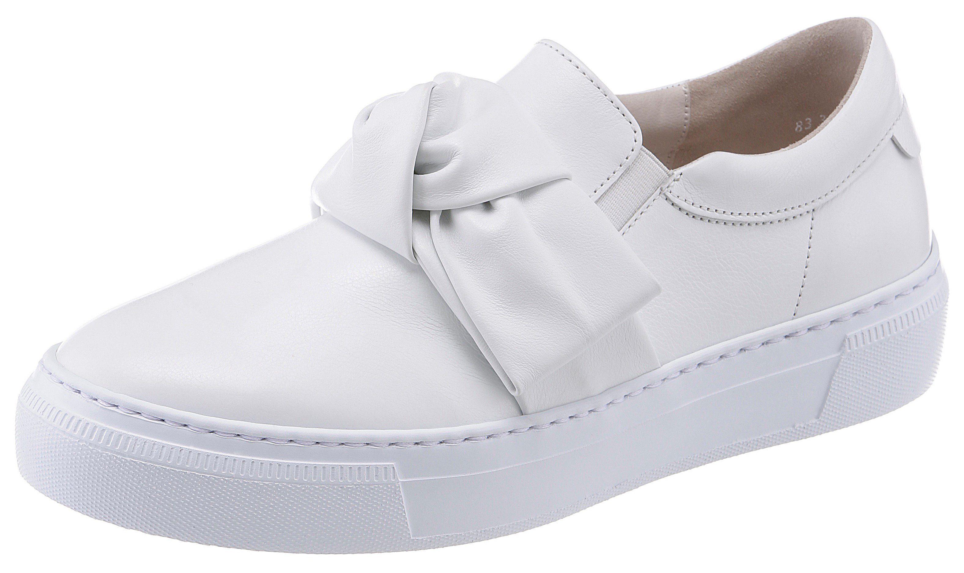 Gabor Slip-On Sneaker, mit gepolstertem Schaftrand  weiß