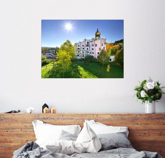 Posterlounge Wandbild - Rainer Mirau »Hundertwasser Therme, Rogner Bad Blumau«