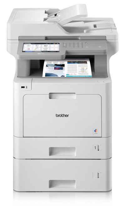 Brother WLAN 4-in-1 Mulitfunktionsdrucker+2 Kassetten Farblaserdrucker, (LAN (Ethernet), WLAN (Wi-Fi), NFC)