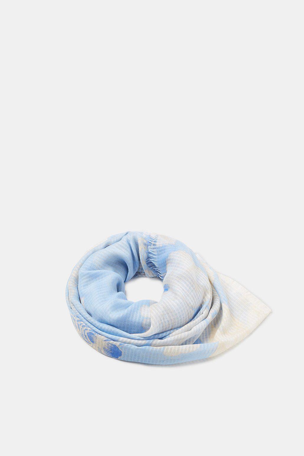 ESPRIT Strukturierter Schal mit floralem Muster
