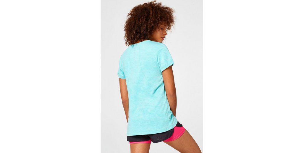 Active V Shirt mit ESPRIT Active E ESPRIT Neck DRY Shirt Meliertes Meliertes 88SEw