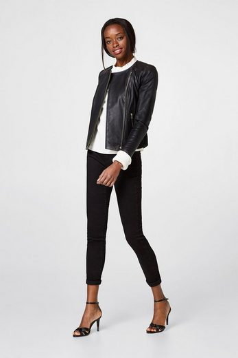 ESPRIT COLLECTION Feminine Biker-Jacke aus softem Leder