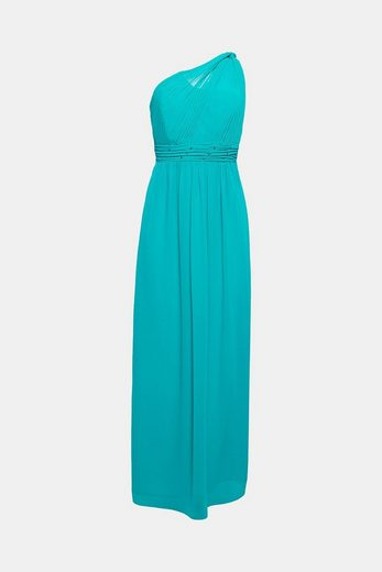 ESPRIT COLLECTION One-Shoulder-Kleid aus Chiffon mit Strass