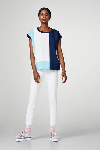Esprit Collection Lightweight Blouse-shirt With Color Blocking