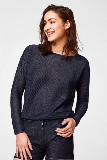 ESPRIT COLLECTION Luftiger Feinstrick-Pullover mit Tunnelzug