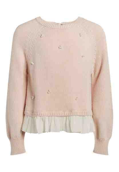 Next Gewebter Pullover im Mixdesign