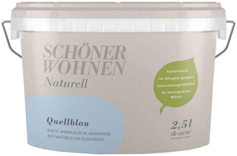 Schoner Wohnen Farbe Wand Und Deckenfarbe Naturell Quellblau 2 5 L Online Kaufen Otto