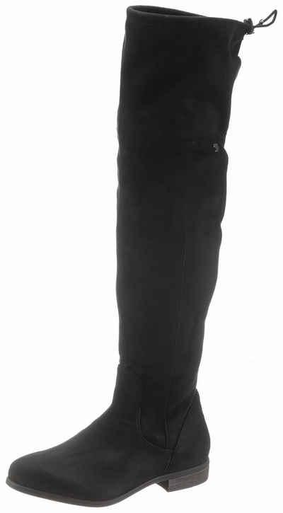 Tom Tailor Overkneestiefel mit Schnellverschluss am Schaftabschluss 06f1b4e410