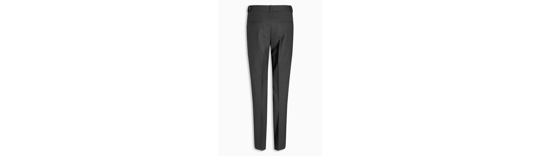 Next Slim-Fit Hose mit Struktur, schwarz