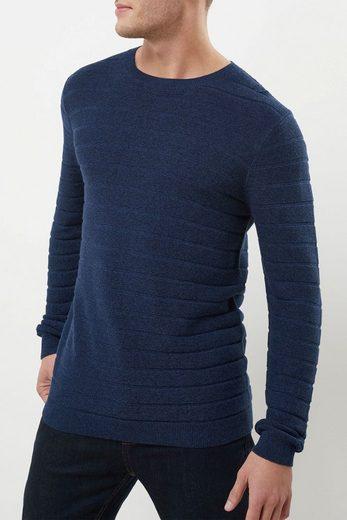 Next Pullover mit Rundhalsausschnitt und Strukturstreifen