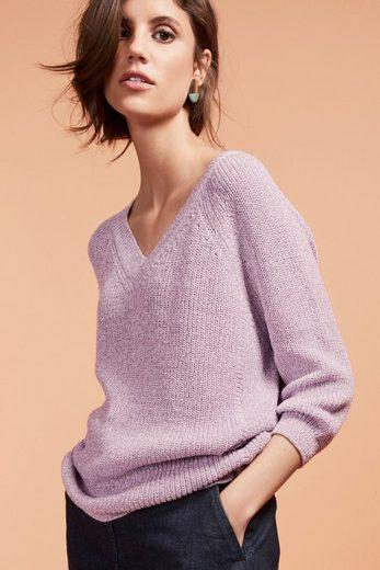 Next Pullover mit Fledermausärmeln und V-Ausschnitt