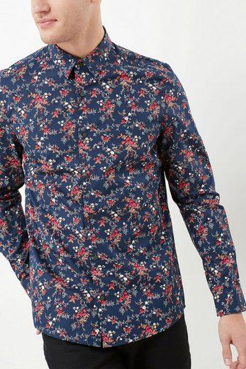 Next Langarmhemd mit Blumenmuster