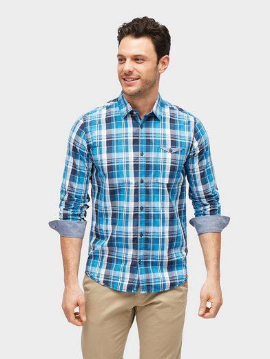 Tom Tailor Hemd kariertes Hemd mit Brusttasche