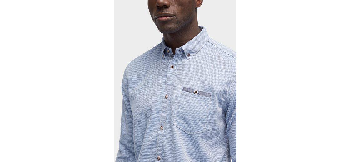 Tom Tailor Hemd gemustertes Hemd mit Brusttasche Billig Verkauf Angebote Countdown Paket Günstiger Preis Verkaufsauftrag Geschäft Billig Manchester kfzgi1Y