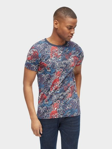 Tom Tailor Denim T-Shirt gemustertes T-Shirt