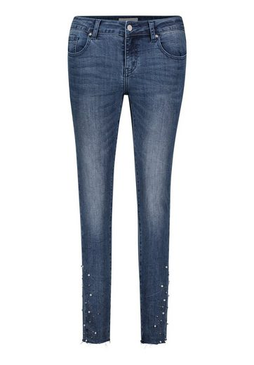 Cartoon Jeans mit Perlen