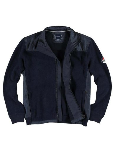 Engbers Sweat Jacket With Sporty Nylon Inserts