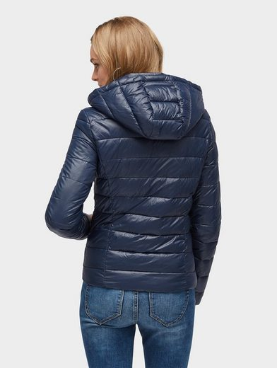 Tom Tailor Denim Steppjacke leichte Steppjacke mit Kapuze