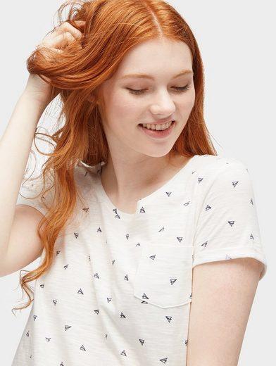 Tom Tailor Denim T-Shirt Shirt mit ganzflächigem Print